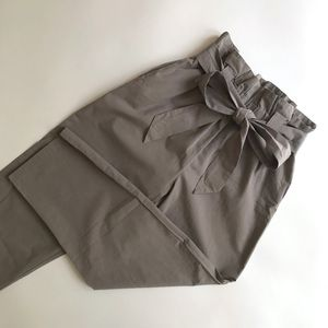 Anthropologie Cartonnier Taupe Belted Trousers